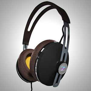 sennheiser headphones 3d obj