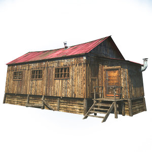 wooden barn house 3d model