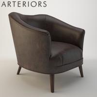 arteriors duprey settee armchair max