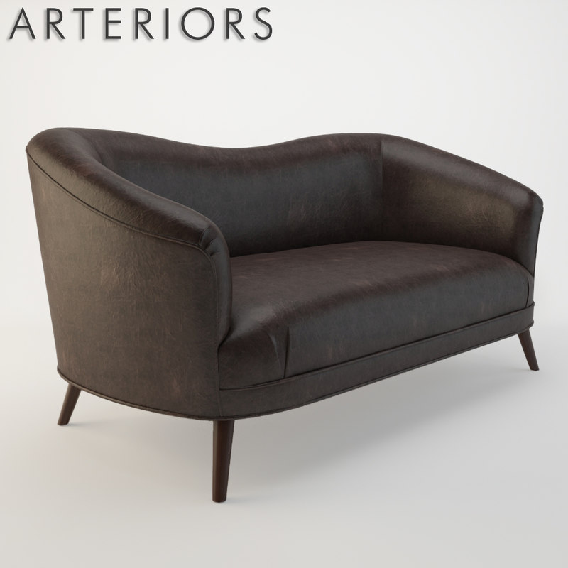 arteriors duprey settee sofa 3d model