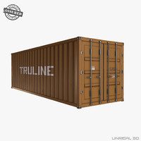 ready shipping container 3d obj