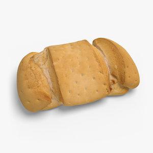 3d model bread ready unreal