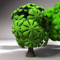 cartoon trees 3d max