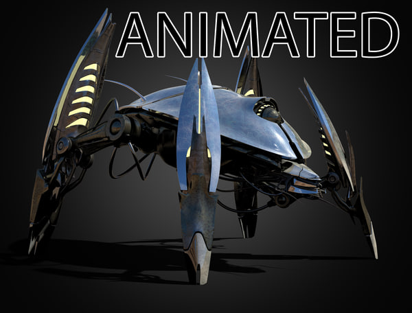 robot insect 3d max