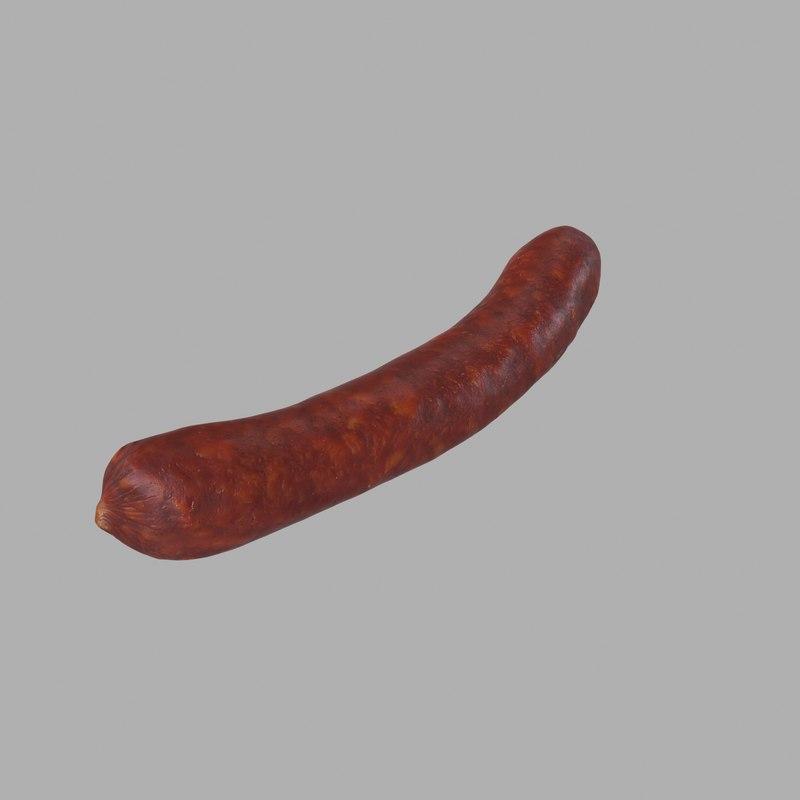sausage 3d max
