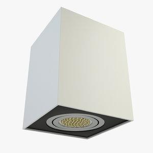 3d model downlight light