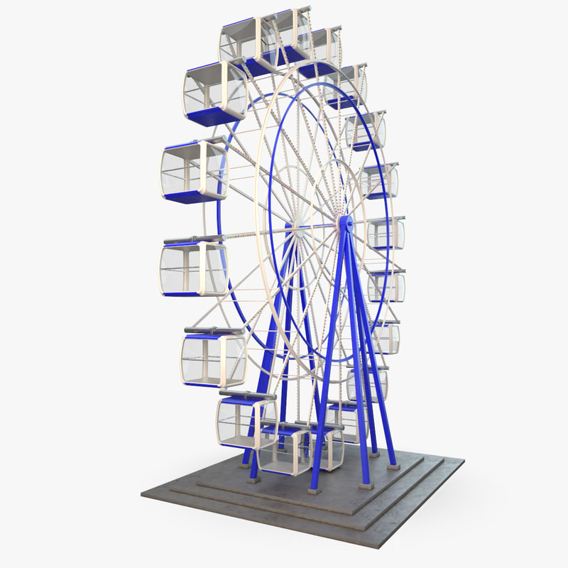 3d model wheel carousel