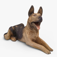 3d dog decor model