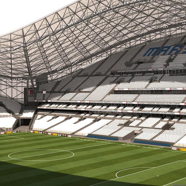 stade marseille soccer 3d model