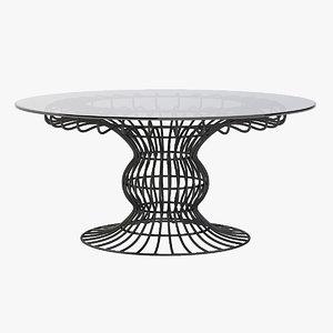 sorio garden table 3d model