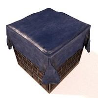 blender crate 3d obj