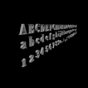alphabet -alfabe - 3d model