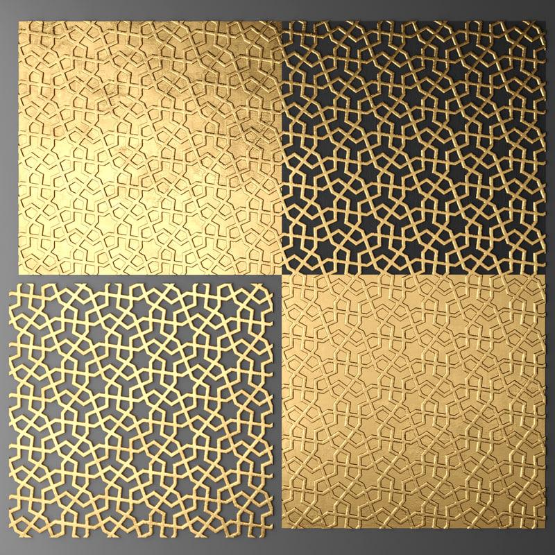 3d lattice arab panel