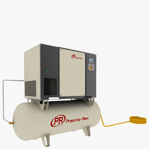 industrial air compressor 3d model