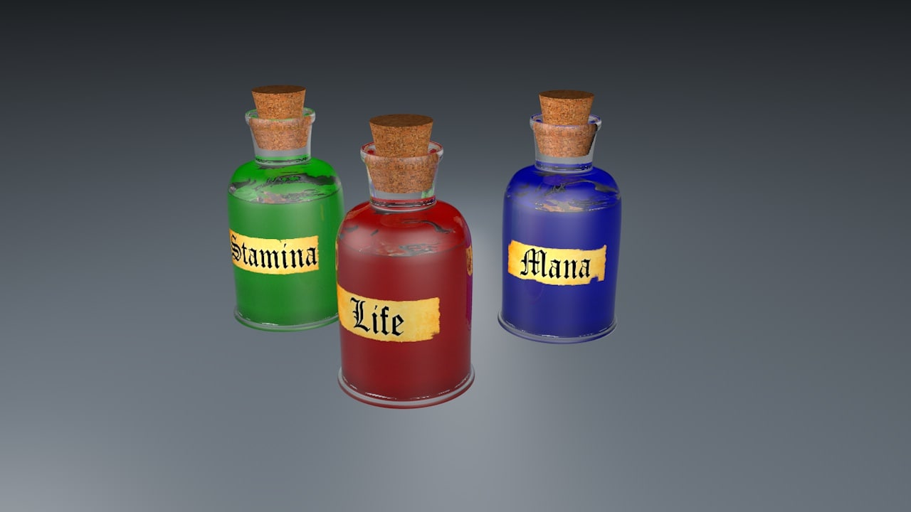bottle potion obj