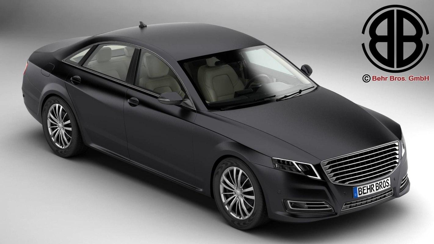 generic car luxury class interior 3ds