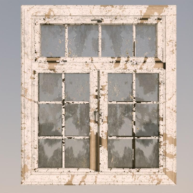 old window 3d c4d