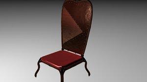 3d model chair steampunk