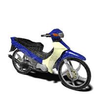 underbone motorcycle yamaha 3d model