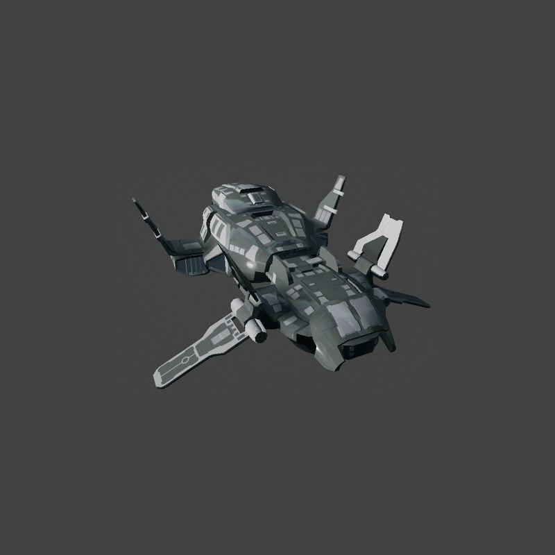 3d scifi bomber