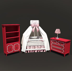 beverly crib bookcase 3ds