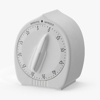3d model kitchen timer 3 minutes