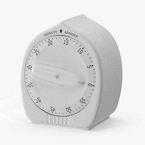 3d model kitchen timer 17 minutes