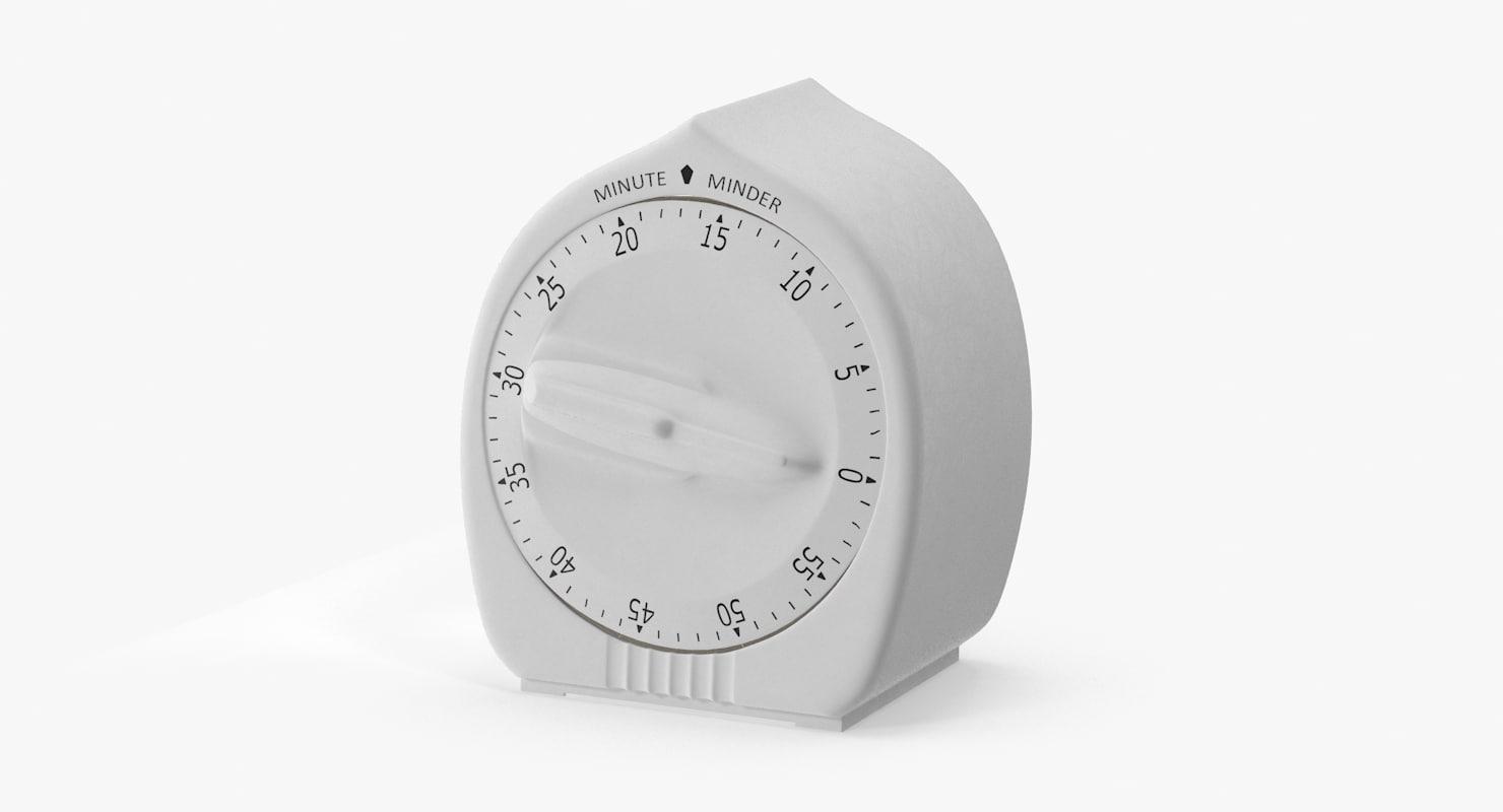 3d model kitchen timer 17 minutes
