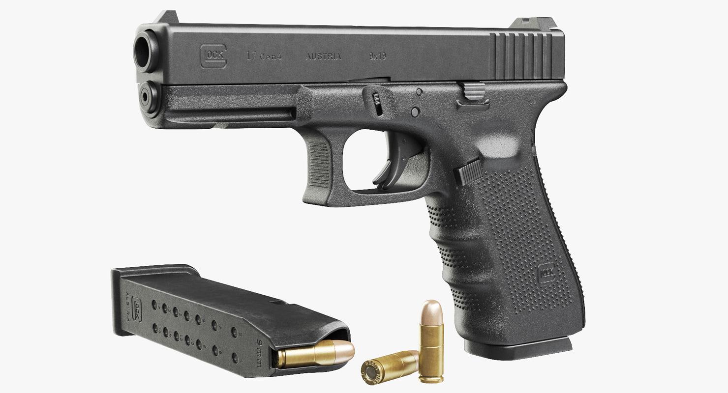 gun glock 17 gen4 3d model