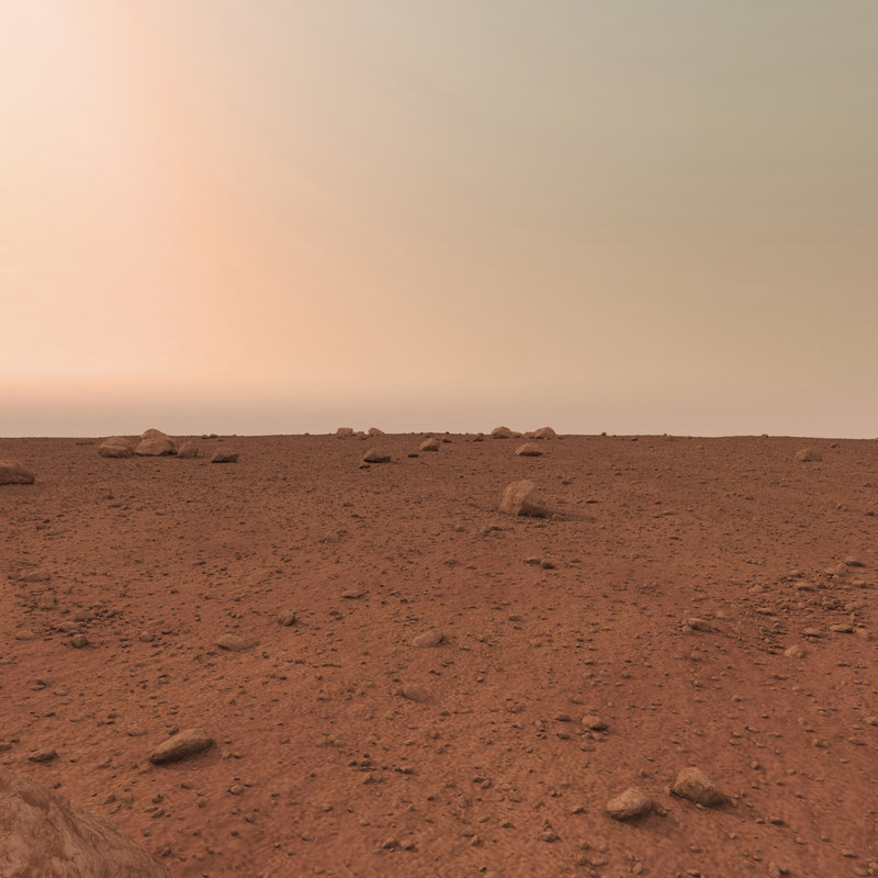 mars surface 3d max
