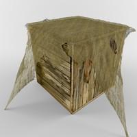 wood crate 3d c4d