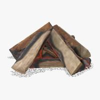 wood coals 03 3d max