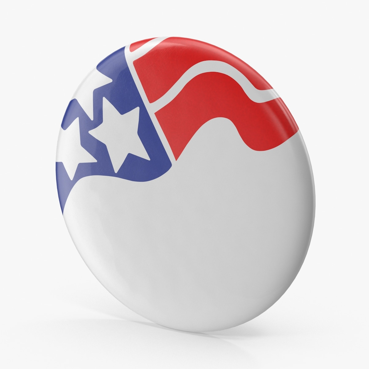 3d model of flag campaign button