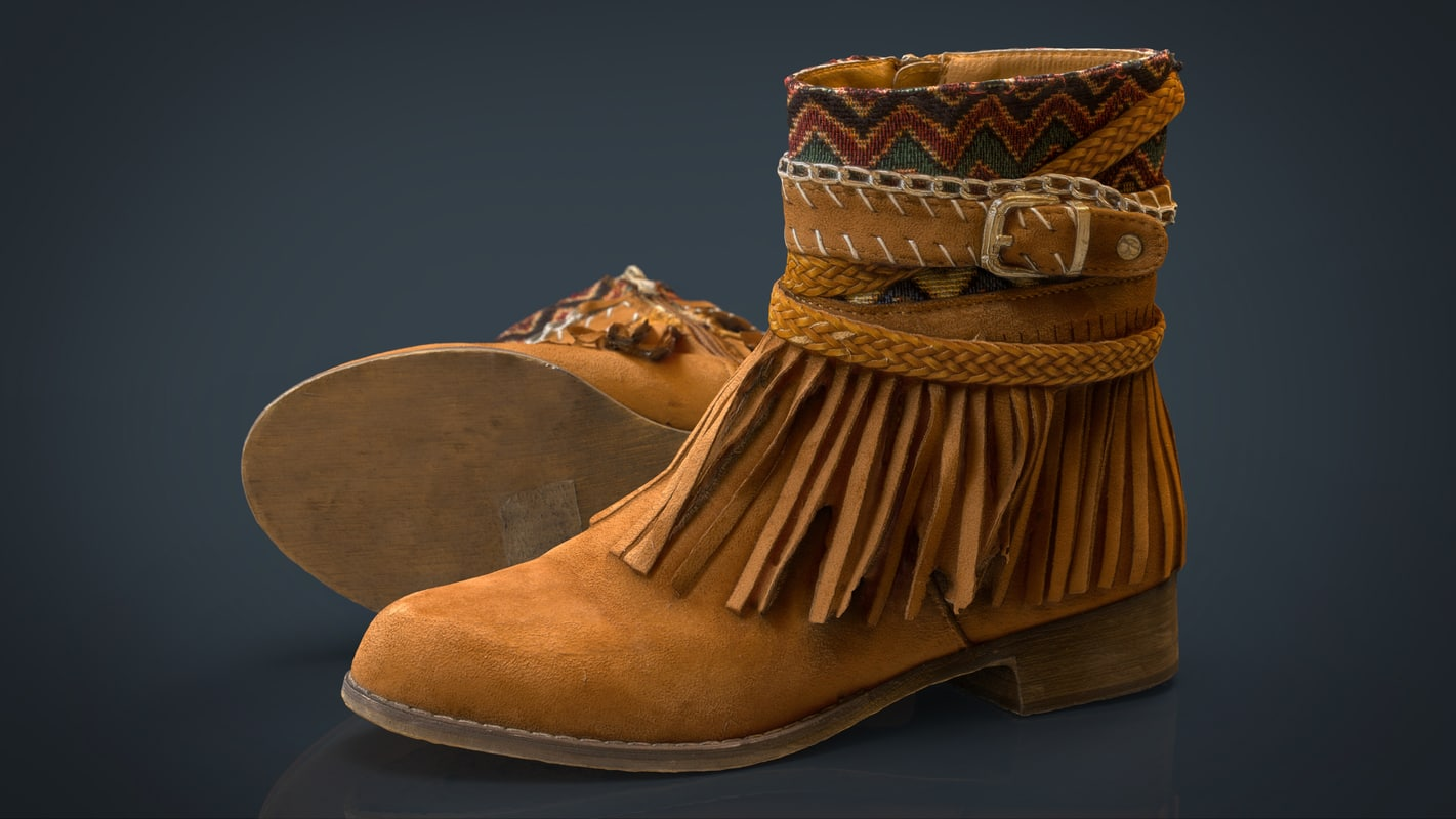 3d realistic womens boots