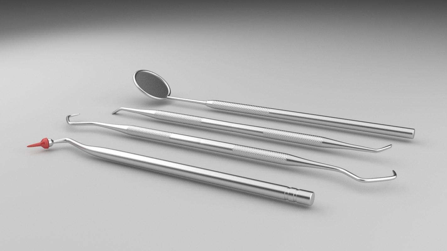 dental tools 3d model