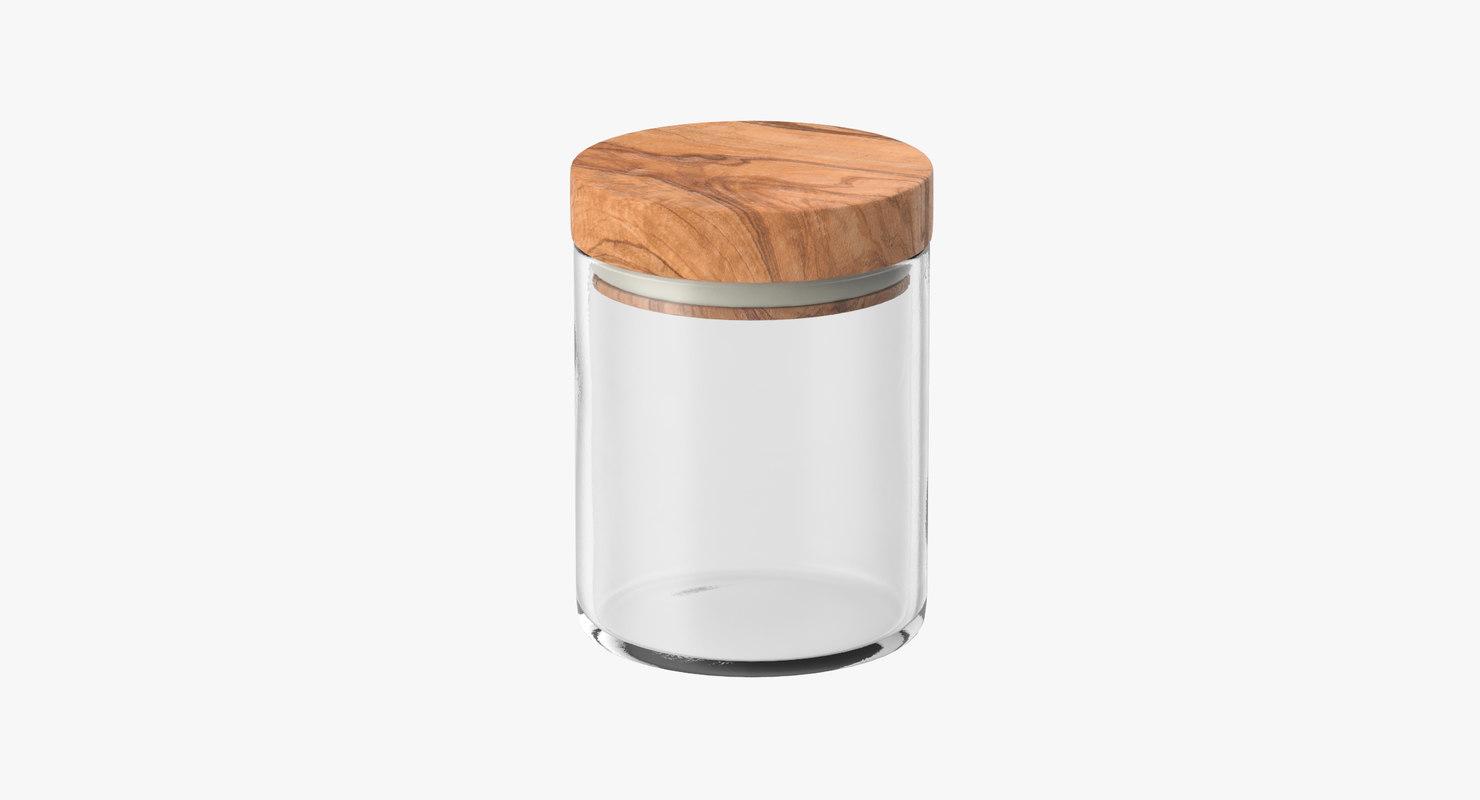 kitchen jar wood lid 3d max