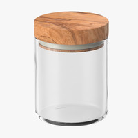 kitchen jar wood lid 3d max