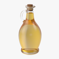 3d model oil bottle 01