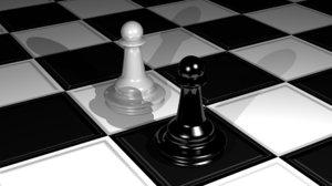 chess 3d obj