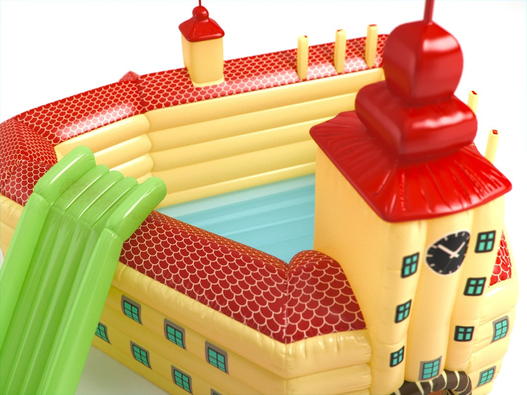 inflatable toy castle 3d max