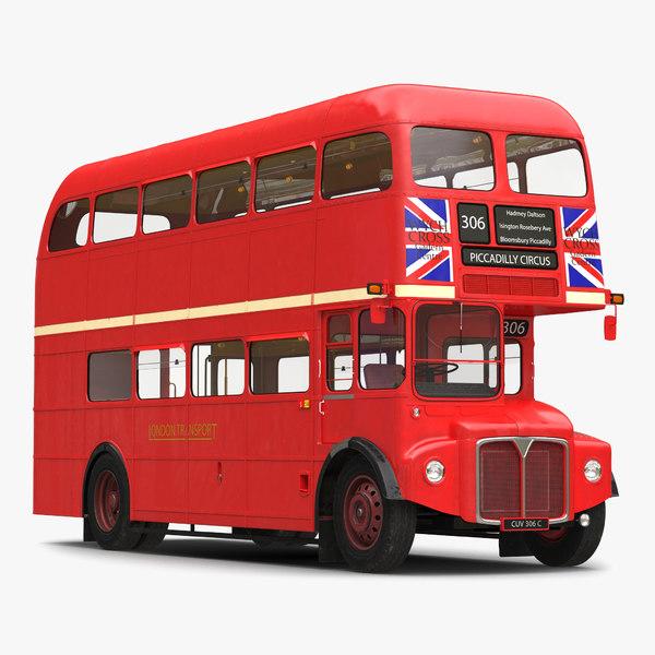 c4d london bus routemaster simple
