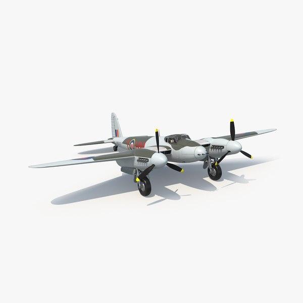 havilland mosquito 3d model
