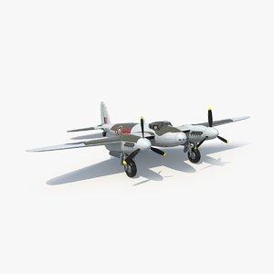 havilland mosquito 3d model