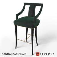 3d eanda bar stool brabbu model