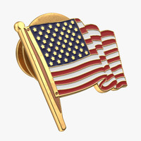 3d american flag pin