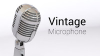 vintage old microphone 3d 3ds