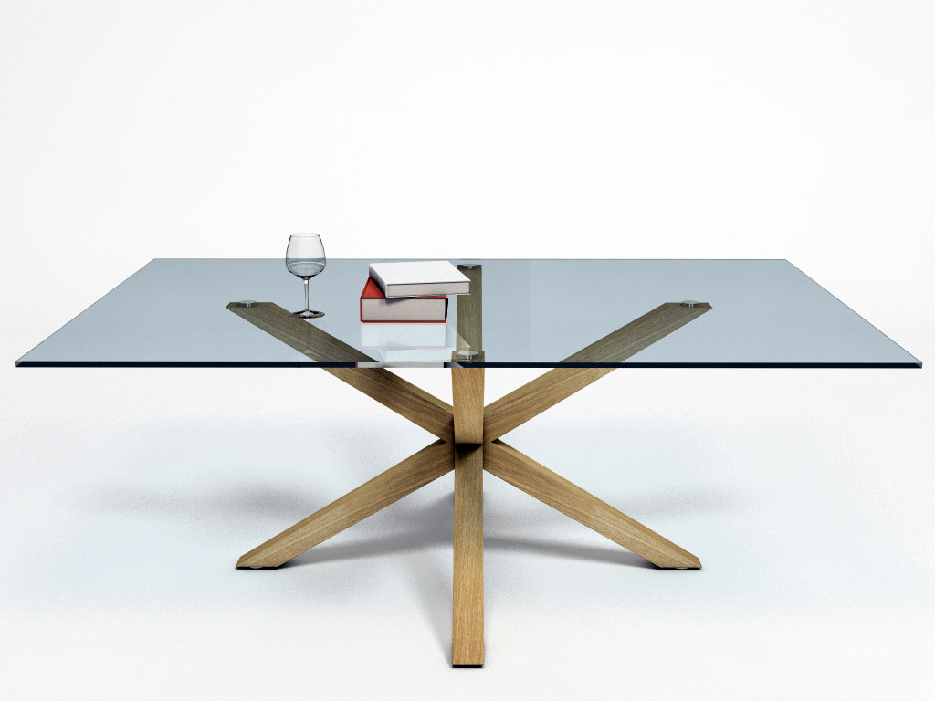 3d dining table arya model