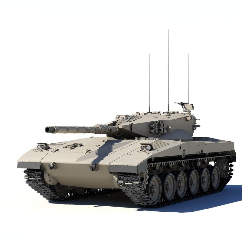 merkava mk 1 3d model