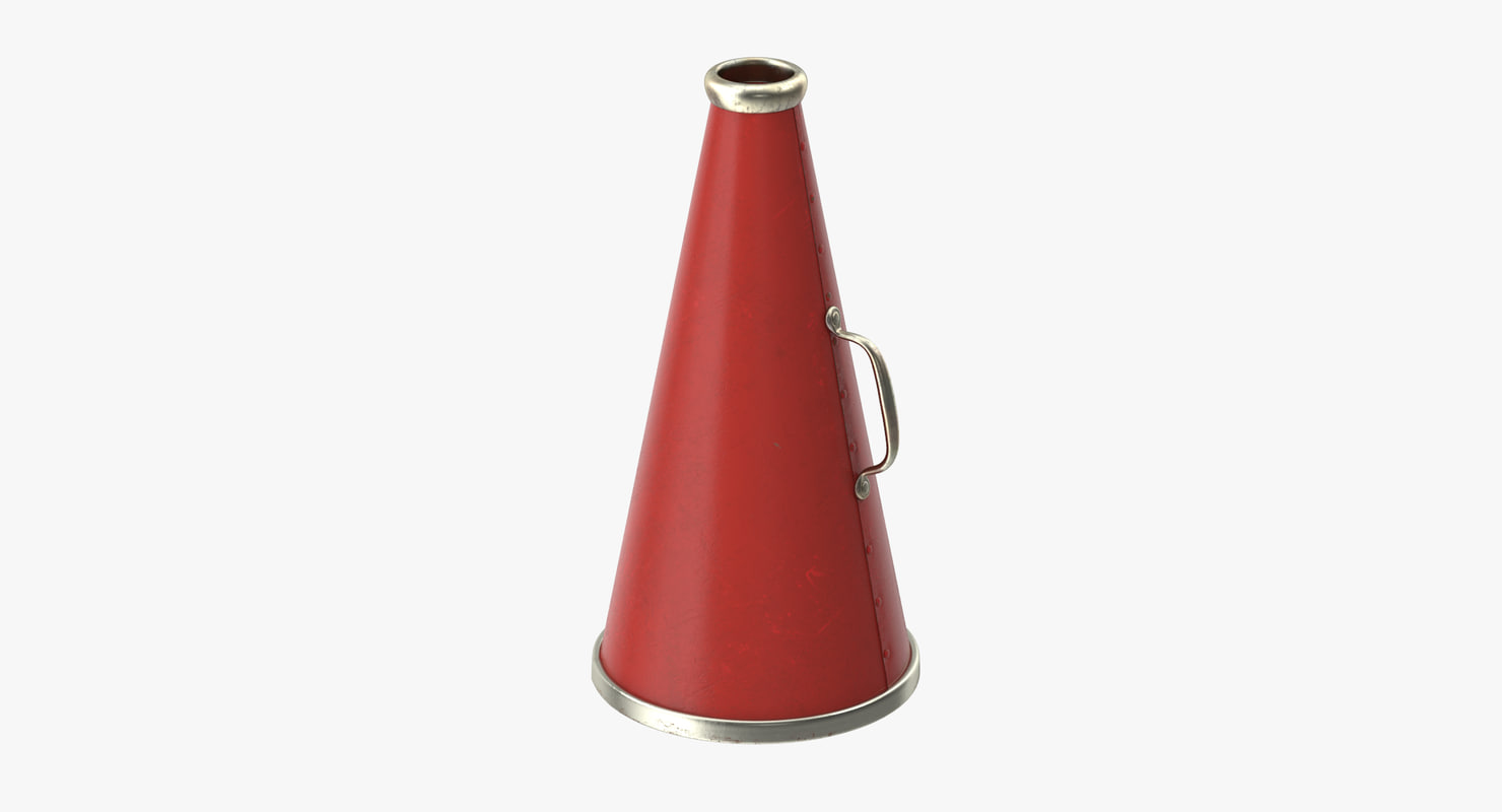 3d model old megaphone