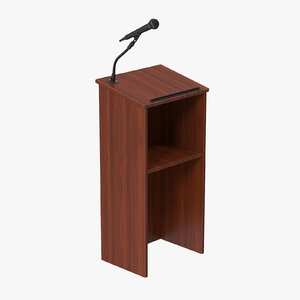3d podium microphone